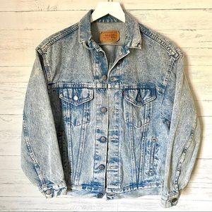 Levi's Jackets & Coats - Levi's Vintage Acid Wash Denim Jean Jacket M/L